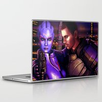 mass effect Laptop & iPad Skins featuring Mass Effect - For love... by Amber Hague