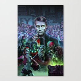Hannibal Holocaust - They Live Return of the Living Dead Mads Mikkelsen Canvas Print