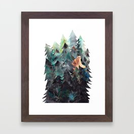 Bigfoot Forest Framed Art Print