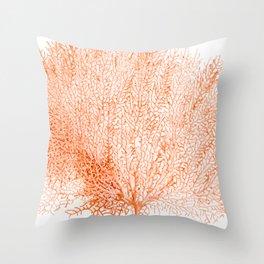 """Sea Fan Coral""  Throw Pillow"