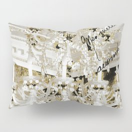 Crystal Pearls Chandelier Paris Pillow Sham