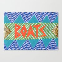 boats Canvas Prints featuring BOATS by KATE KOSEK