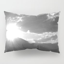 Black and White Wyoming Sunset over the Beartooth Mountains Pillow Sham