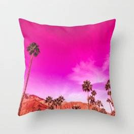 Palm Springs Rush Hour Throw Pillow