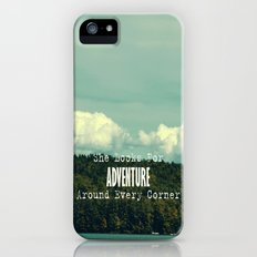 She Looks for Adventure  iPhone (5, 5s) Slim Case