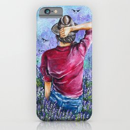 Lavender girl iPhone Case