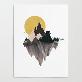 Moon Mountain Poster