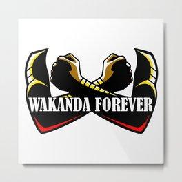 Wakanda forever hand x Metal Print