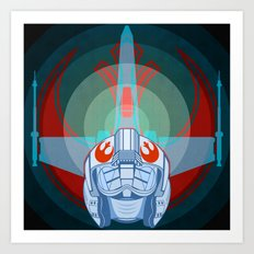 Red leader standing by Art Print
