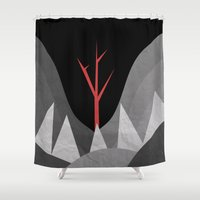 scary Shower Curtains featuring Scary Night by Creative Brainiacs