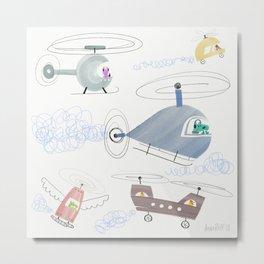 Flying Machines Metal Print