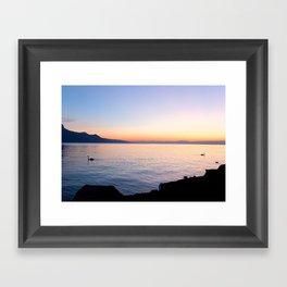 Separate Sunsets Framed Art Print