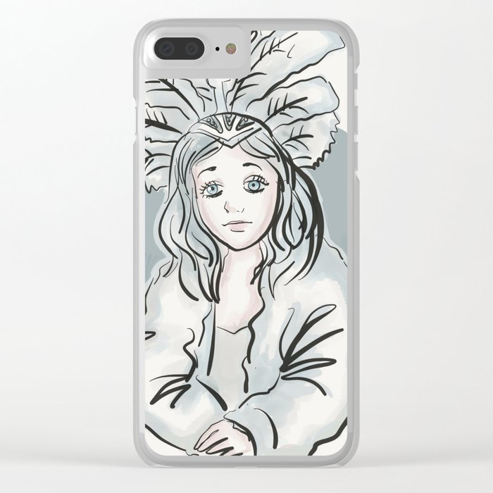 Mardi Gras Girl Clear iPhone Case