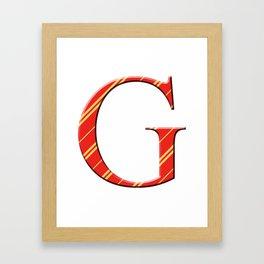 G for Gryffindor Framed Art Print