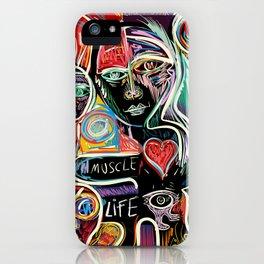 Muscle is Life Street Art Graffiti Love iPhone Case