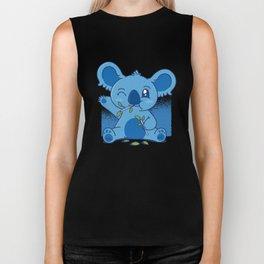 Blue Baby Koala Biker Tank