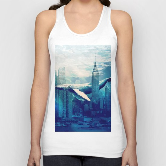 Blue Whale in NYC Unisex Tank Top