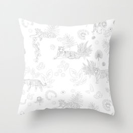 Tiger Jungle Throw Pillow
