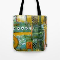 starbucks Tote Bags featuring Starbucks by Jenny Chatterton