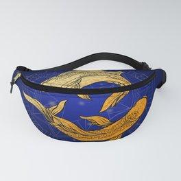 Zodiac golden sign — Pisces Fanny Pack