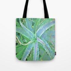 Pop Art Grey Green Aloe Tote Bag