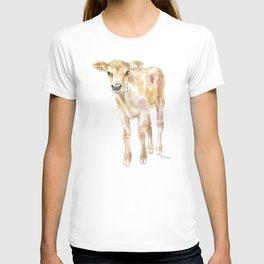Jersey Calf Watercolor Cow T-shirt
