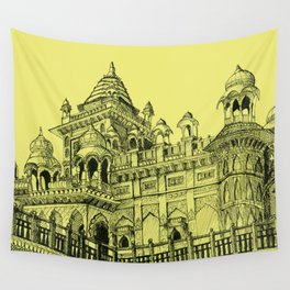 Rajasthan Palace Yellow Wall Tapestry