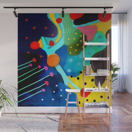 Abstract Art - Lagoon mushrooms rupydetequila amazonia dots cheetah Wall Mural