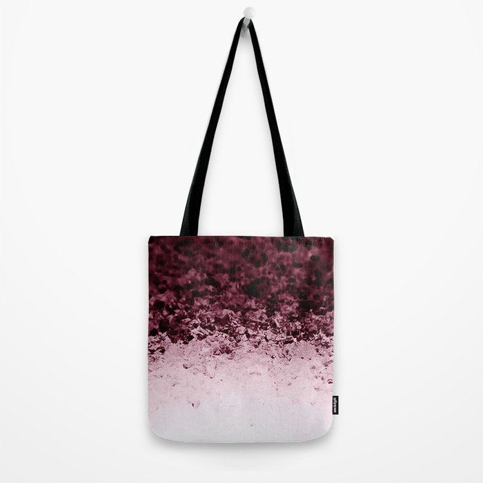 Burgundy CrYSTALS Ombre Gradient Tote Bag