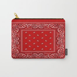 Paisley - Bandana - Red - Southwestern - Boho Carry-All Pouch