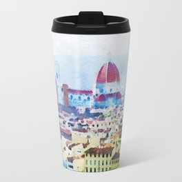 Watercolor painting of Florence Italy Travel Mug