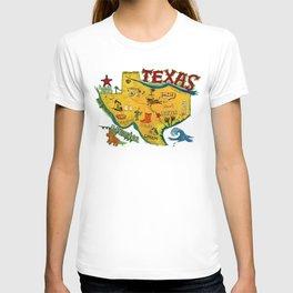 Postcard from Texas print T-shirt