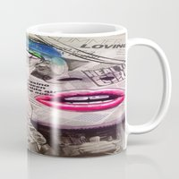 newspaper Mugs featuring NewsPaper  by cchelle135