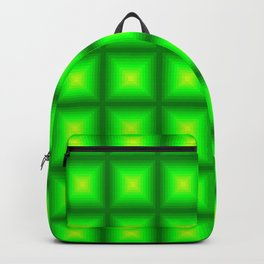 Green Squares Backpack