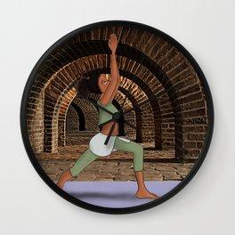 Warrior One Wall Clock