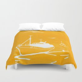 Comrades in Yellow Duvet Cover
