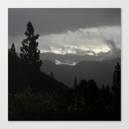 Another stormy day on the mountain... Canvas Print