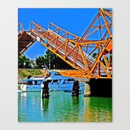 Sacramento Delta Draw Bridge Canvas Print