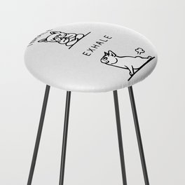 Inhale Exhale French Bulldog Counter Stool
