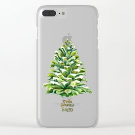 Pine Cone Pine Tree - Make someone happy Clear iPhone Case