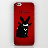 ninja iPhone & iPod Skins featuring NINJA by RAGING BUNNIES