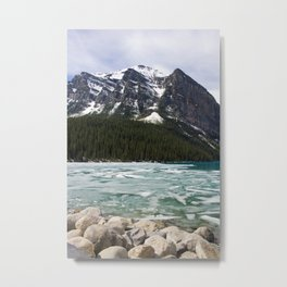 Winter Photography: Frozen Lake - Lake Louse, Banff, Canada Metal Print