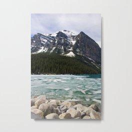 Winter Photography: Frozen Lake - Lake Louse, Banff, Canada Metal Print
