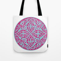 persian Tote Bags featuring Persian circle by Osgarr