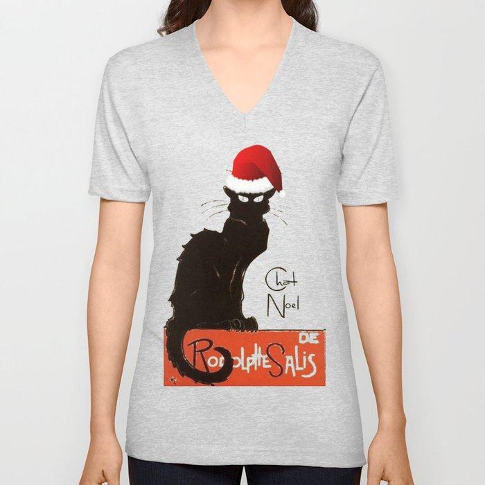 Le Chat Noel Unisex V-Neck