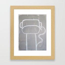 No. 0010 - Modern Kids and Nursery Art - The Monkey Framed Art Print