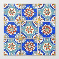 italian Canvas Prints featuring Italian Tiles by PeriwinklePeacoat