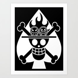 Fire fist ace Art Print