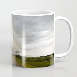 Shelf Cloud Over Country Road 1 Coffee Mug