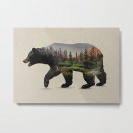 The North American Black Bear Metal Print